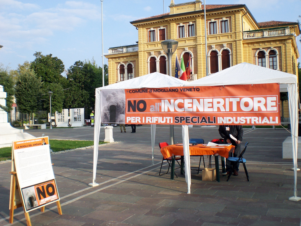 Gazebo inceneritore